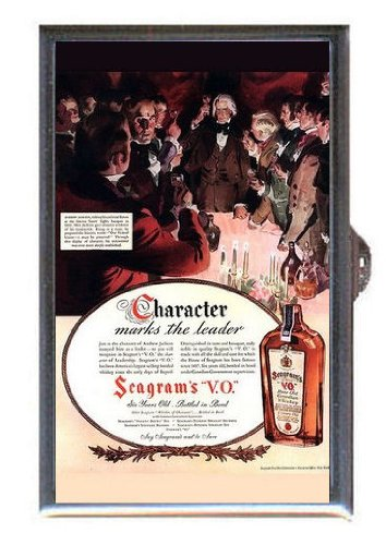 ended Canadian Whisky Ad, Guitar Pick or Pill Box USA Made (Seagram Vo Canadian Whiskey)