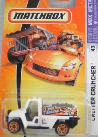 [해외]Matchbox 2006 Critter Cruncher Pest Control Truck Termite Terminators White 43 / Matchbox 2006 Critter Cruncher Pest Control Truck Termite Terminators White 43