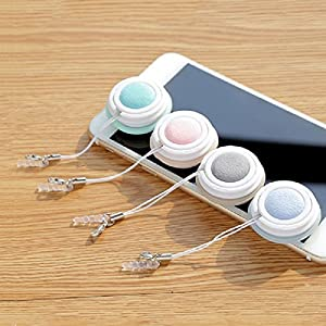 Macarons Eyeglass Cleaner keychain Mobile's Pendant with Dustproof plug, Washable and Reusable Soft Brush Cleaning Tool for Eyeglasses Sunglasses Lens and Phone Screen