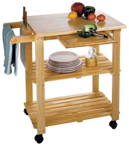 Winsome Wood Utility Cart, Natural - smallkitchenideas.us