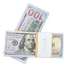 COPY MONEY Total $10000 Dollar $100X100 Pcs FAKE MONEY US Currency Props Advertising & Novelty Real Looking New Style Copy Double-Sided Printing - for Movie, TV, Videos