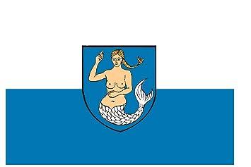 U24 Fahne Flagge Wangerooge Bootsflagge Premiumqualit/ät 80 x 120 cm