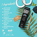 Cali White ACTIVATED CHARCOAL & ORGANIC COCONUT OIL TEETH WHITENING TOOTHPASTE, MADE IN USA, Best Natural Whitener, Vegan, Fluoride Free, Sulfate Free, Organic, Black Tooth Paste, PACIFIC MINT