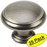 "Cosmas 5422AS Antique Silver Cabinet Hardware Mushroom Knob - 1-3/16"" Diameter - 25 Pack"