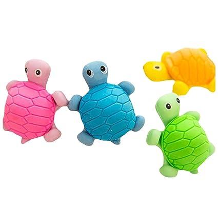 Westeng 5Pcs Borradores Forma del tortuga Goma de Borrar Para ...