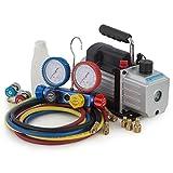 digital ac gauges r22 r134 r410a - ARKSEN 4CFM Rotary Vacuum Pump 1/3HP w/ AC Manifold Gauge Set R410 R22 R134 R407C