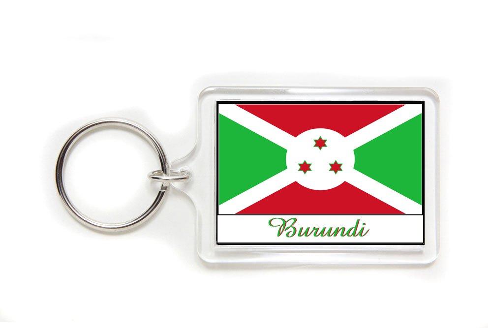 Souvenir Burundi Burundian Flag Double Sided Acrylic Key Ring Large