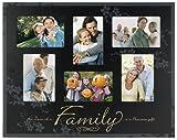 Malden FAMILY 6-opening collage special ebony-black keepsake frame - 4x6