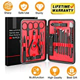 Updated 2019 Version Manicure Set-Hunwoo Nail Clippers Set 18 in 1 Grooming Kit Stainless Steel Professional Pedicure Set,Nail Scissors,Nail File,Ear Pick,Tweezers,Nose Hair Scissors,Eyebrow Razor