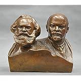 Liangliang988 Figura de Marx y Lenin en pecho (bronce)