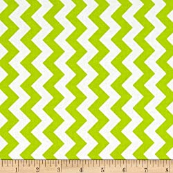 Riley Blake Designs 0296438 Small Chevron Fabric by The Yard, Lime