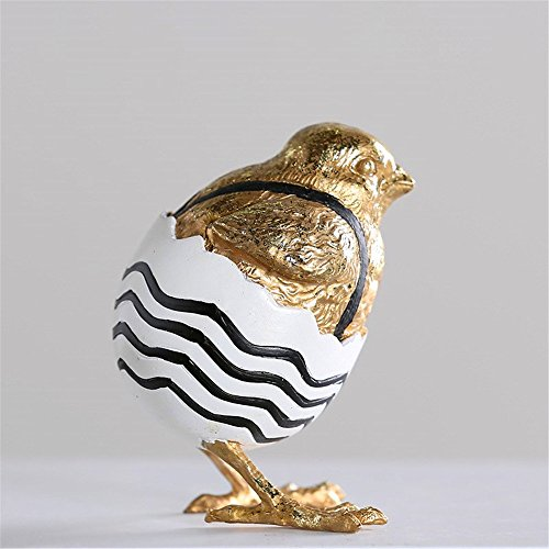 Lucky House Hand-Painted Shell Chicken Creative Chicken Hatching Resin Craft Gift Gold by Lucky House (Image #3)
