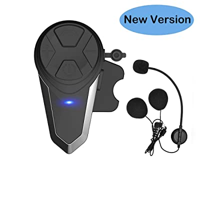 THOKWOK Motorcycle Bluetooth Headset,BT-S3 1000m Helmet Headphones for Snowmobile Motorcycle Bluetooth Communication System Ski Intercom Up to 3 Riders(Boom Microphone, Pack 1): Automotive