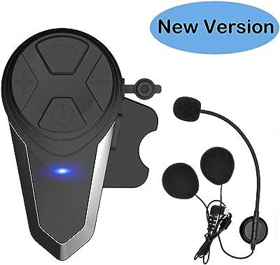THOKWOK Motorcycle Bluetooth Headset,BT-S3 1000m Helmet Headphones