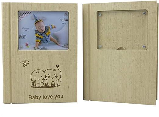 Caja de almacenamiento de la leche para bebés Madera de dientes de ...