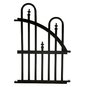 Specrail Roxbury ROXBURY24EP Aluminum Garden Fence End Panel, 24 By 16 Inch,  Black