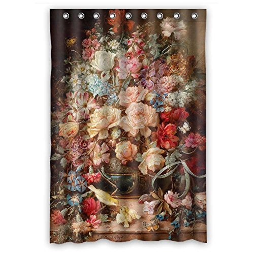 Husky Lambswool (Monadicase Famous Classic Art Painting Flowers Blossoms Polyester Bathroom Curtains Width X Height / 48 X 72 Inches / W H 120 By 180 Cm For Girls,teens,wife,kids Boys. With Hooks. Fabric Material)
