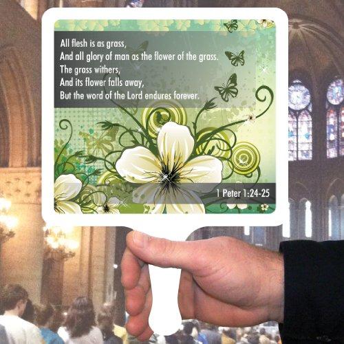 Church Fans - Set/12 Hand Held Fans 1 Peter 1:24-25 ()