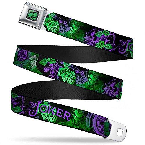 The Joker Card Flipping Poses Black/greens/purples Seatbelt