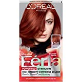 L'Oréal Paris Feria Multi-Faceted Shimmering Permanent Hair Color, R68 Ruby Rush (Rich Auburn True Red), 1 kit Hair Dye