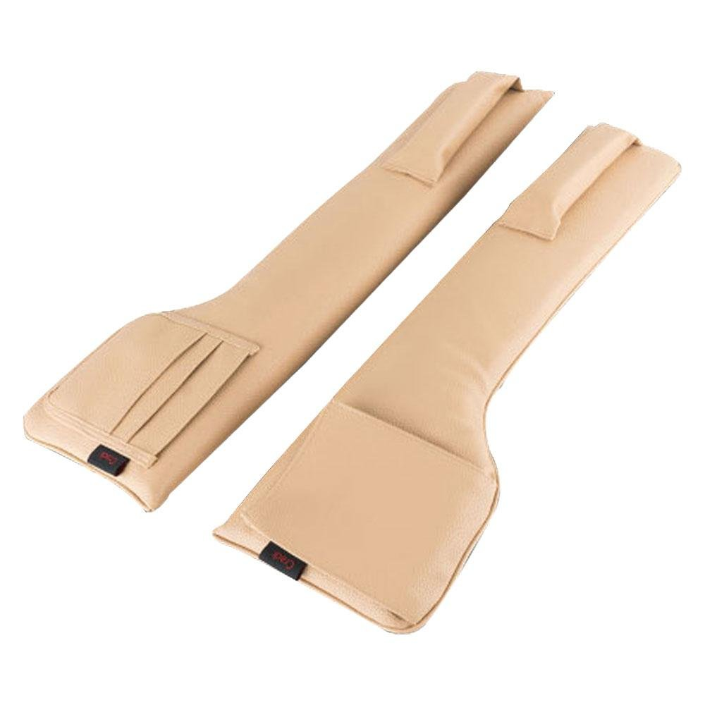 2pcs Car Seat Gap Filler, niceeshop(TM) PU Car Pocket Organizer, Seat Catcher Console Side Pocket Fills the Gap Between the Seat