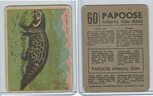 V255 Canada Chewing Gum, Papoose Animal Gum, 1935, 60 Civet Cat