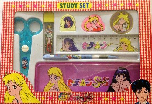 Sailor Moon Super S Study Set Pink Pencil Box