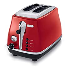 DeLonghi CTO2003R Icona Collection 2 Slice Toaster, Red
