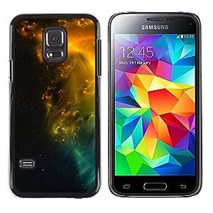 Fuerzas mágicas de Starlike Entidad - Metal de aluminio y de plástico duro Caja del teléfono - Negro - Samsung Galaxy S5 Mini (Not S5), SM-G800