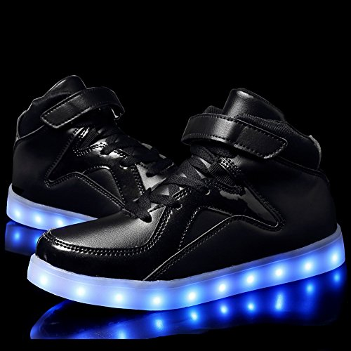 CIOR High Top Led Sneakers Light Up Flashing Shoes For Kids Boy and Girl(Toddler/Little Kid/Big Kid),112,01,34