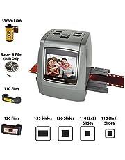 Magnasonic All-In-One High Resolution 22MP Film Scanner Converts 126KPK/135/110/Super 8 Films Slides Negatives into Digital Photos Vibrant 2.4 LCD Screen Impressive 128MB Built-In Memory
