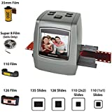 Magnasonic All-in-One High Resolution 22MP Film Scanner, Converts 126KPK/135/110/Super 8 Films, Slides, Negatives into Digital Photos, Vibrant 2.4 LCD Screen, Impressive 128MB Built-in Memory