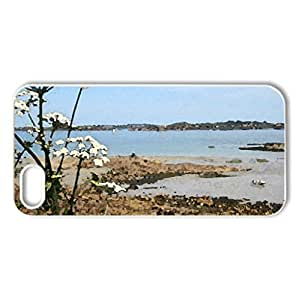 Coast of Brittany - Case Cover for iPhone 5 and 5S (Beaches Series, Watercolor style, White)