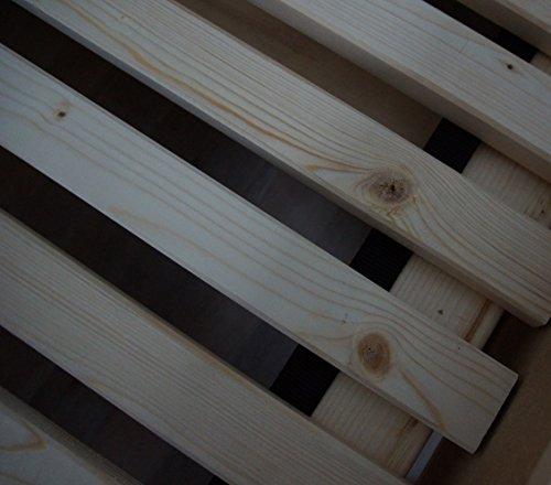 TUGA Holztech Naturprodukt FSC 28 LEISTEN bis 250Kg in der Größe 100 x 200 cm ROLLROST Lattenrost Qualitätsarbeit aus Deutschland unbehandelt, frei von Chemie