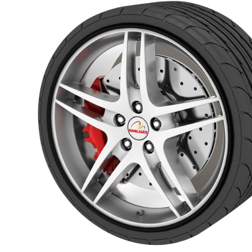 GoBadges RB05 Black Rim Blade, (Set of (Black Alloy Rims)