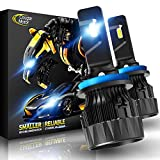 Cougar Motor X-Small H11 H8 H9 LED Headlight Bulb, 10000Lm 6500K All-in-One Conversion Kit - Cool White CREE