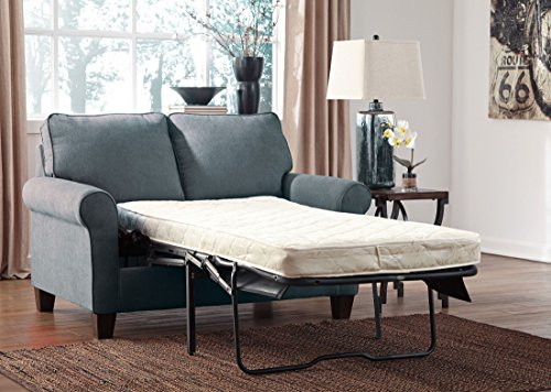 Ashley Furniture Signature Design - Zeth Sleeper Sofa - Twin Size - Easy Lift Mechanism - Contemporary Living - Denim (Apartment Size Sectional Sleeper Sofa)