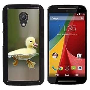 PC/Aluminum Funda Carcasa protectora para Motorola MOTO G 2ND GEN II Happy Duckling Chick / JUSTGO PHONE PROTECTOR