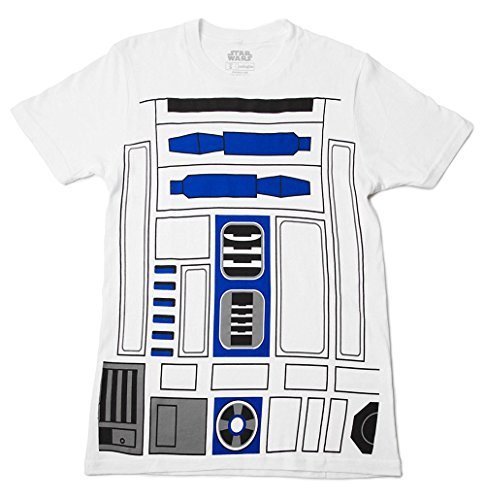 Mighty Fine I Am R2D2 Costume Adult T-shirt - White (XXXX-Large) (Boys I Am Chewbacca Costume Tshirt)