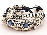 wrap boho bracelet, beaded wrap bracelet with leather for women, chunky woman bracelet