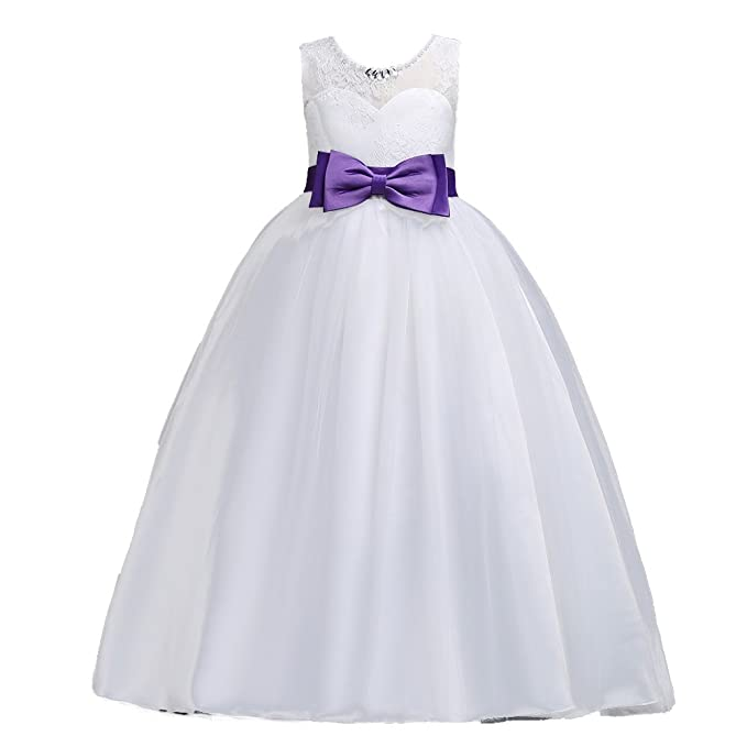 Amazon.com: LPATTERN Little/Big Girls Classic Elegant Lace ...