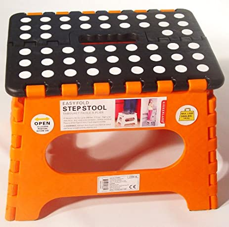 Amazon.com Kikkerland EZ Fold Short Step Stool Black Kitchen u0026 Dining  sc 1 st  Amazon.com : kikkerland easy fold step stool - islam-shia.org