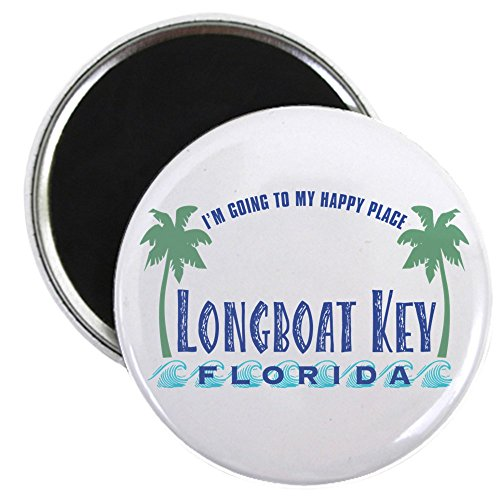 CafePress - Longboat Key Happy Place - Magnet - 2.25