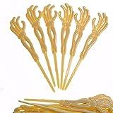 scary halloween decorating ideas Skeleton Hand Food Picks 72 Pack