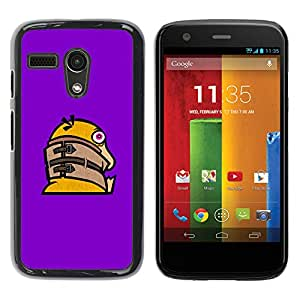 Stuss Case / Funda Carcasa protectora - Funny Crazy Duck - Motorola Moto G 1 1ST Gen