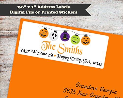 Halloween Lights Return Address Labels, Halloween Address Stickers, Address Labels