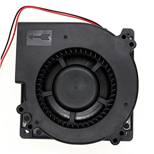 Brushless Radial Blower - UTUO DUAL Ball Bearing High Speed 12V DC Centrifugal Fan with XH-2.5 Plug 120mm by 120mm by 32mm (4.72x4.72x1.26 inch) (Dual Centrifugal Blower Wall)