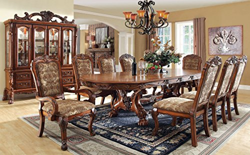 Inland Empire Furniture's Medieve 9 pc. Formal Dining Table w/ Hutch & Buffet