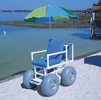 Amazon.com: Playa acceso silla, 4 grandes ruedas, 300 lb de ...