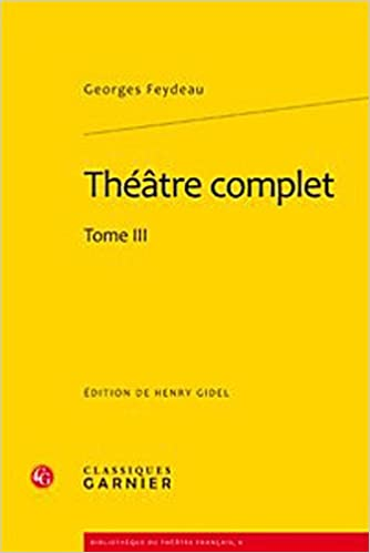 Book Théâtre complet : Tome 3